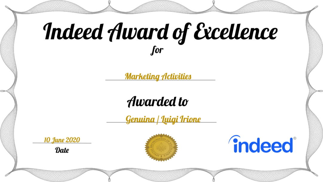 Indeed Award of Excellence